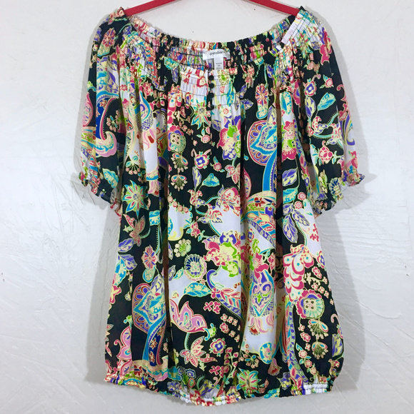 Dress Barn Off Shoulders Boho Blouse Plus Size 3X